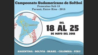 Peru v Colombia - U-18 Women's South American Softball Championship 2018