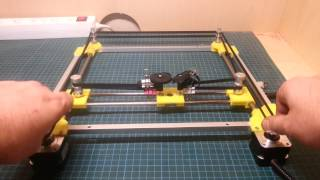 CoreXY experimentation, testing movement by hand