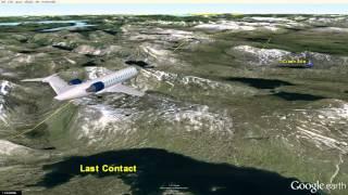 Flight SWN294 (Reg PT294) Crash in Sweden - Google Earth Map