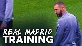 Cristiano Ronaldo is GOAL HUNGRY | James Rodriguez IS READY | REAL MADRID TRAINING