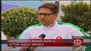 Actor Laszlo Kovacs fue victima de robo