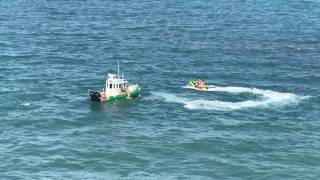 Carnival Magic Cruise ship nearly runs over jet skiers
