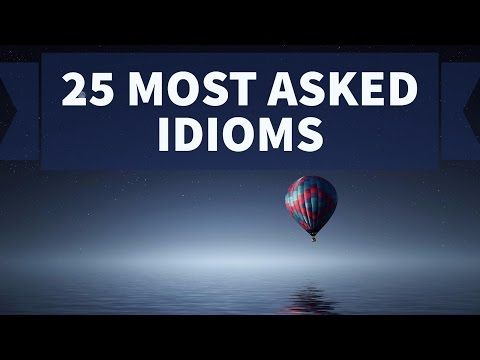 watch 25 most important Idioms for SSC CGL and SBI PO