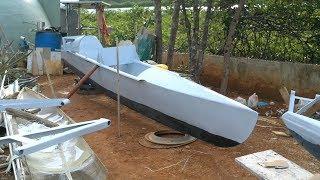 Ultralight Solar Speedboat 018 Ready for the Water!