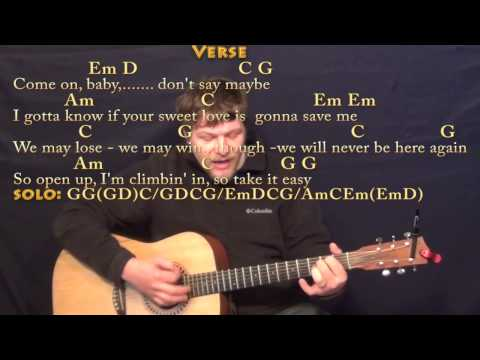 Take It Easy (Eagles) Strum Guitar Cover Lesson with ChordsLyrics
