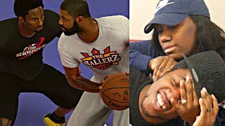 WHAT IF KYRIE IRVING PLAYED YOUNG KOBE BRYANT 1V1! HUSBAND VS WIFE NBA 2K17 1V1 GETS VIOLENT!
