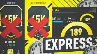 EXPRESS FUT DRAFT 189 RATED o DISCARD PACK !!!