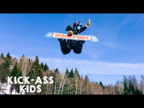 Xxx Mp4 10 Year Old Snowboarder Lands Dangerous Double Backflip KICK ASS KIDS 3gp Sex