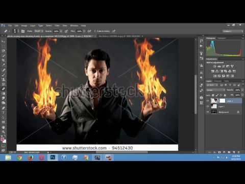 Как сделать себя в огне фотошоп видео урок - Savvinka.ru