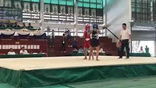 Loma Lookboonmee vs Lommanee Wor.Santai @ Thai University Wushu Championships