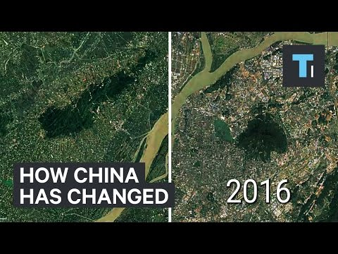 Time–lapse of how much China has