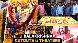 Gautamiputra Satakarni Balakrishna Cutouts at Theaters | Balakrishna | Shriya | Krish | #GPSK