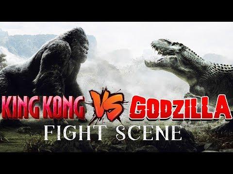 King Kong VS Godzilla Fight Scene King Kong vs Godzilla | Movie Clip