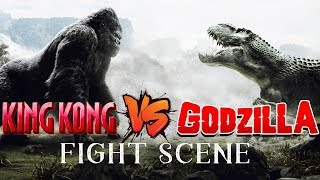 King Kong VS Godzilla Fight Scene King Kong vs Godzilla | Movie Clip