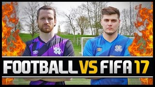FOOTBALL VS FIFA WITH HASHTAG MIKE! (PRO FIFA PLAYER)