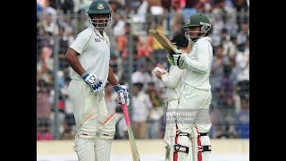 Mominul and Tamim makes their 50 on Wellington test