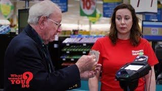 Cashier shames elderly man for paying with coins | WWYD