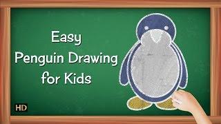 Easy Penguin Drawing for Kids | Kids Learning Video | Shemaroo Kids