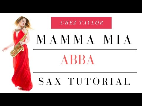 Abba Mamma Mia on sax. Only 4 notes. Quick easy tune for beginner 🎶 Saxophone Lesson/tutorial