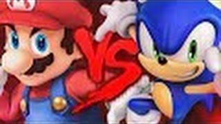 Zuando Youtubers #07 - Mario VS. Sonic 2 (Duelo de Titãs)