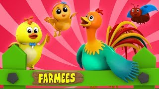 Cock A Doodle Do | English Nursery Rhymes | Kindergarten Songs | Videos For Kids by Farmees
