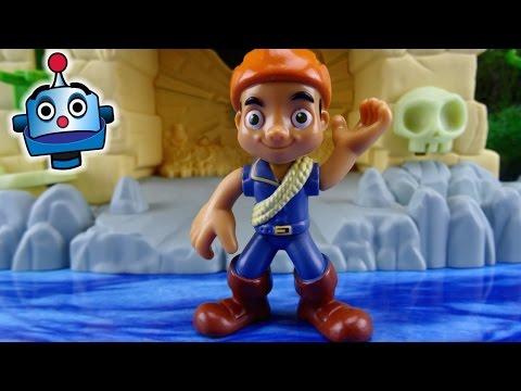 Jake y los Piratas Ciudad Perdida Luz Mágica Glow in the Dark Secret Lost City Juguetes de Jake