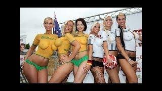 FULLY NAKED WOMEN !!! Skin painted as football kits !!!