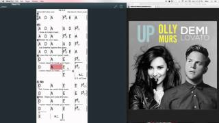 Up Chords at MyPartitur - Demi Lovato and Olly Murs