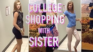 Brother takes younger sister college shopping
