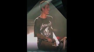 Happy smiling Justin Bieber singing Purpose at Frankfurt Purpose Tour in Germany - November 16, 2016