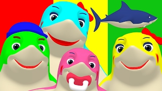 Finger Family Sharks Reggae | Animal Nursery Rhyme, Song for Babies & Toddlers