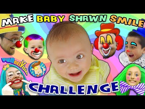MAKE THE BABY SMILE CHALLENGE w Cutie Pie Shawn FUNnel V Family Fun