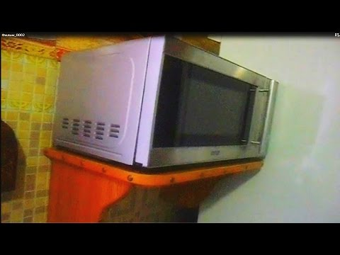 Полка под микроволновку своими руками видео