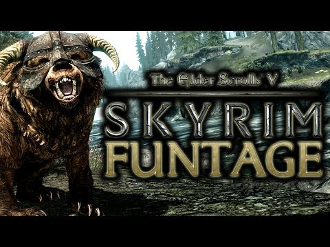 The Elder Scrolls V Skyrim Funtage TES 5 Funny Moments