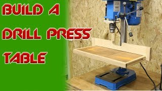 How To Make And Build A Drill Press Table And Fence