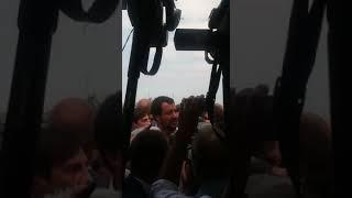 Salvini in visita alla Geotrans, ditta confiscata alla mafia