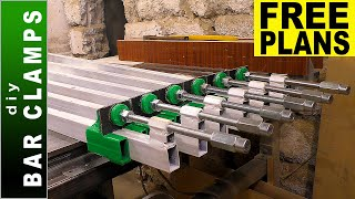 Bar Clamps DIY - Making six Long Bar Clamps - [PLANS]