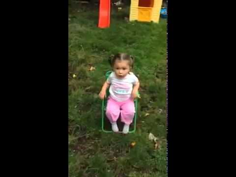 Little Girl Ice Bucket Challenge - Hilarious Swearing..Must See! haha