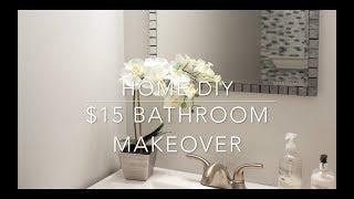HOME DIY - $15 BATHROOM VANITY MAKEOVER