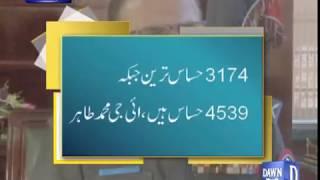 Peshawar mein aam intikhabaar ke liya security high aert