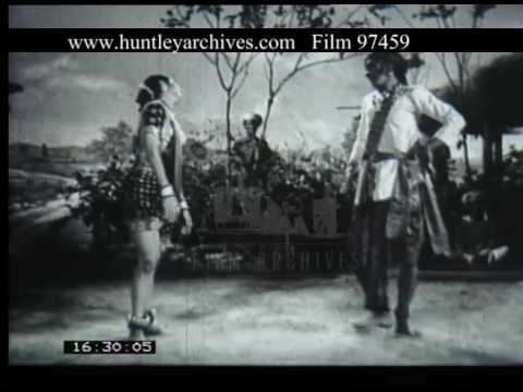 Couple Perform A Dance In A Village India, 1930s - Film 97459