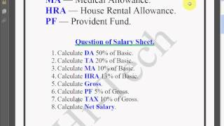 Microsoft Excel Tutorial in Bengali (Part 6) Create Salary Sheet in Excel
