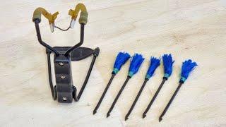 How To Modify A Slingshot To Fire Darts, and How To make Slingshot Darts