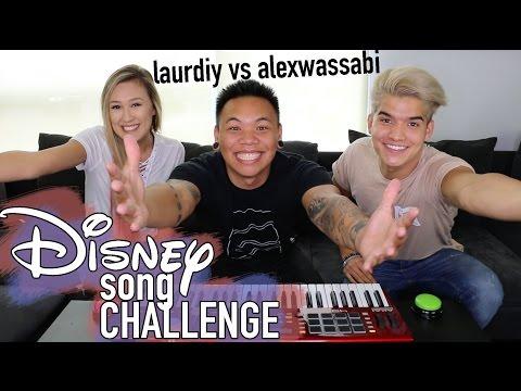 Disney Song Challenge LaurDIY vs Alex Wassabi AJ Rafael