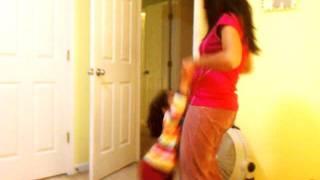 Siya and Arpita dancing