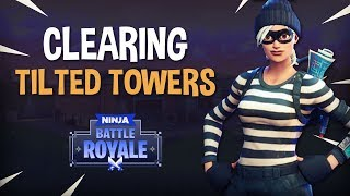 Clearing Tilted Towers! Fortnite Battle Royale Gameplay - Ninja