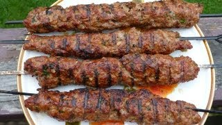 Easy Recipes For Ground Beef - Grilled Koftas Kabobs