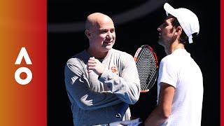 Agassi on coaching Djokovic | Australian Open 2018