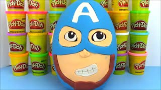 Captain America Civil War Full Movie  Giant Playdoh Surprise Egg