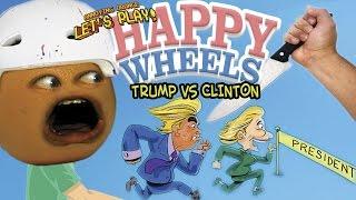 Annoying Orange - Happy Wheels Election: TRUMP vs CLINTON